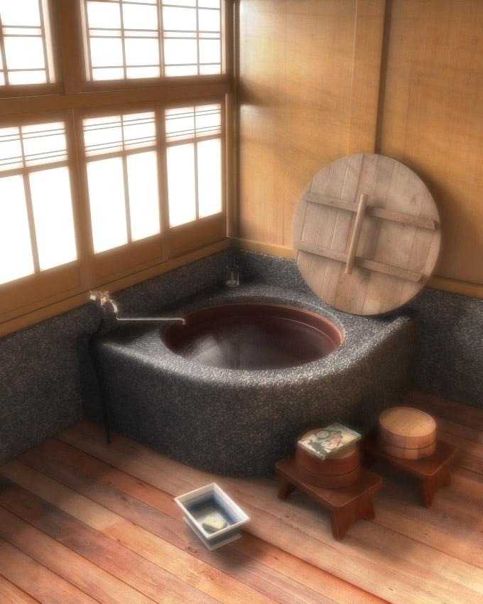les baignoires traditionnelles japonaises sont gnralement fabriques en bois le plus souvent du hinoki sorte de cdre ou du sugi cryptomre et - Salle De Bain Japonaise