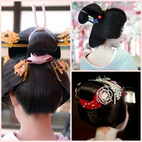 Les coiffures des Geisha