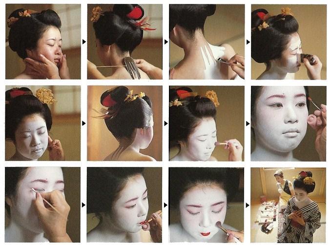 Autrefois, ce maquillage contenait du plomb, si bien que beaucoup  d\u0027anciennes Geisha souffraient de maladies et de problèmes de peau.